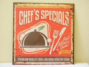 RETRO  OBRAZ - CHEF'S SPECIALS BEST MENU - PLECH