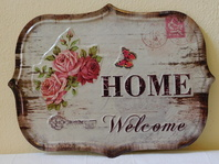 HOME WELCOME - PLECHOVÁ CEDULE